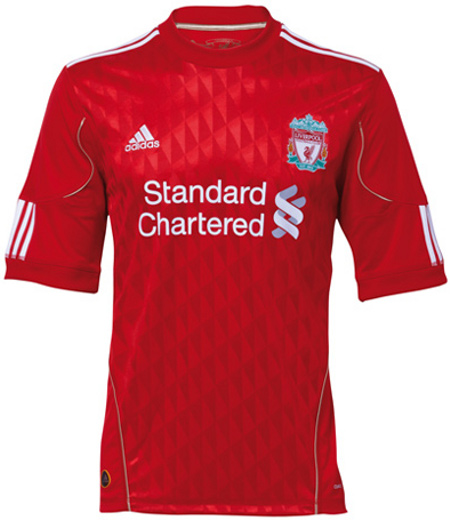 Liverpool kit Liverpool New Home Kit 2010 2011