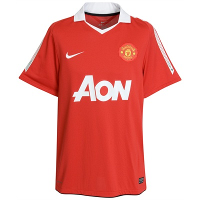hot sales 86b6f 670ed New Manchester United Home Kit - 2010/2011 - Just Football