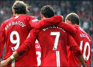 Rooney Ronaldo Berbatov