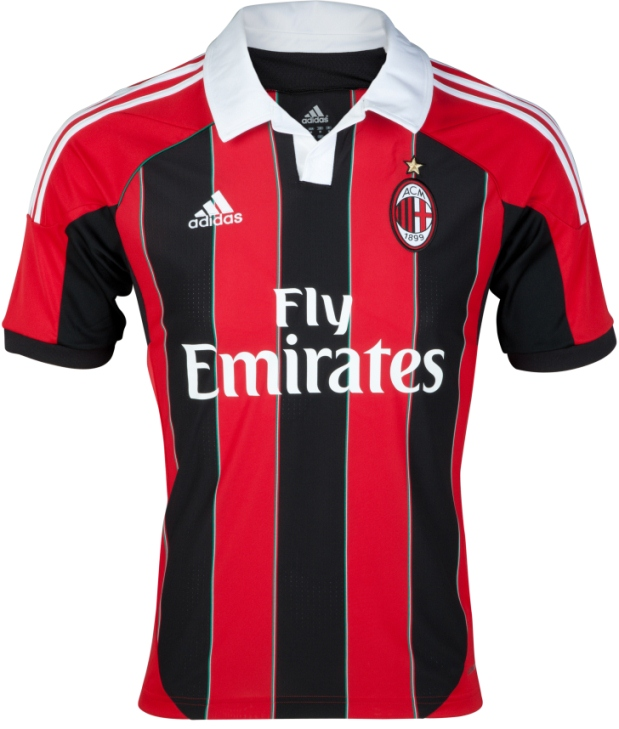 New AC Milan Home Kit 2012-13 - Just Football ced7f6c53