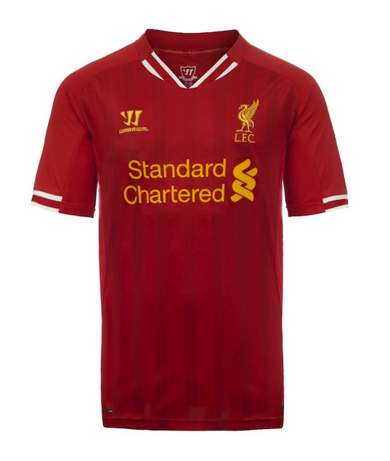 new styles cf4c5 35318 New Liverpool Home Kit 2013-14 - Just Football